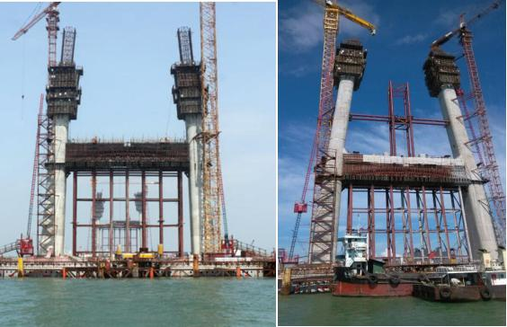 港珠澳大桥 使用产品:液压自爬模